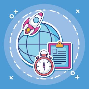 Cyfrowy Marketing Premium Wektorów