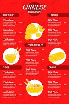 Cyfrowy motyw menu restauracji