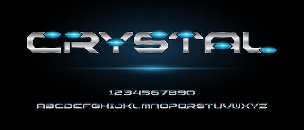 Cyfrowy nowoczesny futurystyczny szablon czcionki alfabetu