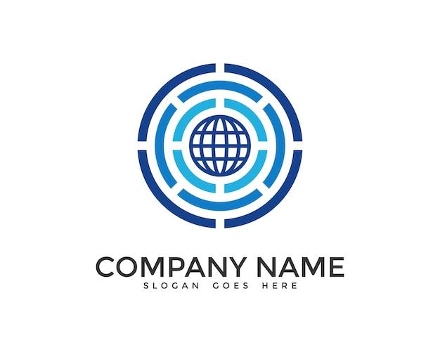 Cyfrowy projekt logo świata