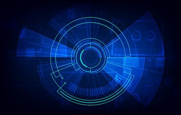 Cyfrowy streszczenie technologia tło