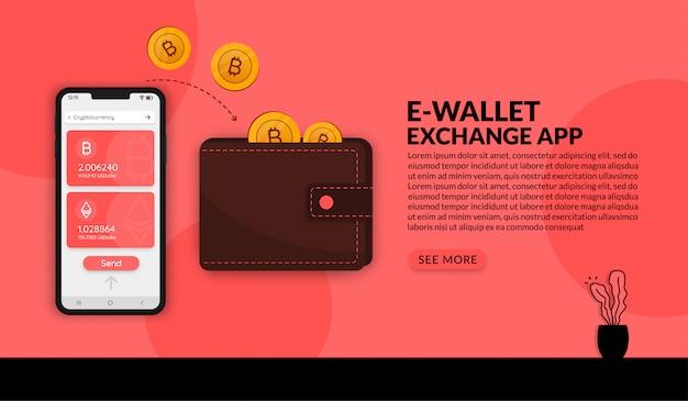 Cyfrowy system płatności i wymiany pieniędzy, aplikacja e-portfela online