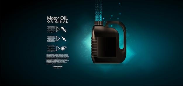 Cyfrowy szablon pomiaru oleju silnikowego