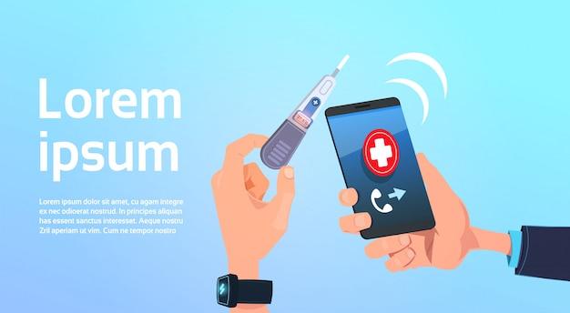 Cyfrowy termometr lekarski trzymający rękę