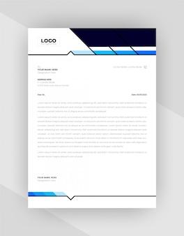 Cyjan i niebieski kolor kreatywne szablony papieru firmowego.