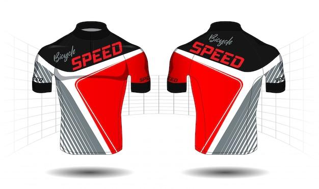 Cykl jersey.sport nosić sprzęt ochrony wektor
