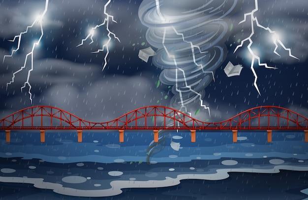 Cyklon i burza z piorunami