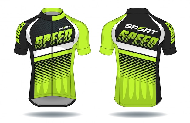 Cyklu jersey.sport odzieży ochrony wyposażenia wektoru ilustracja.