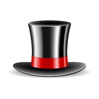 Cylinder magiczny kapelusz na białym tle ilustracja