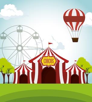 Cyrkowe namioty wesołe miasteczko rozrywkowe