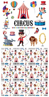 Cyrkowe postacie i zwierzęta