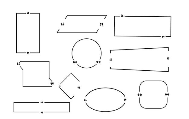 Cytat box rama duży zestaw