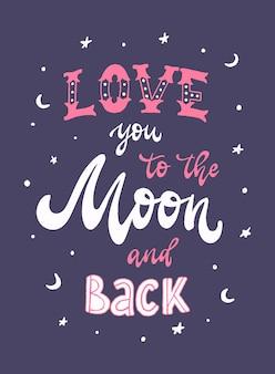 """Cytat """"kocham cię na księżyc iz powrotem"""""""