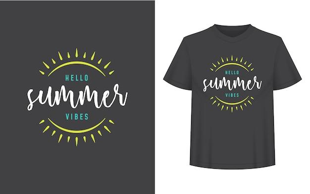 Cytat lub powiedzenie letnie może być użyte dla koszulki