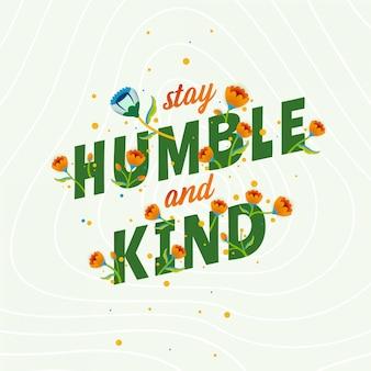 Cytat napisowy bądź pokorny i miły