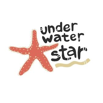 Cytat podwodna gwiazda ocean morze przyrody powołań turystyka podróżowanie darmowe nurkowanie vector