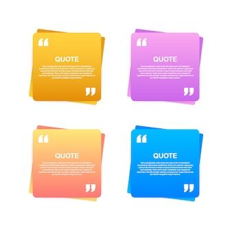 Cytat szablon kreatywny nowoczesny materiał projekt wyceny. ilustracja.