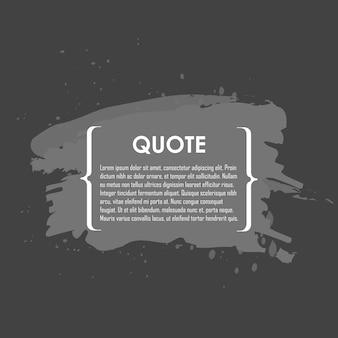 Cytat tekst bańki. przecinki, notatka, wiadomość i komentarz. element projektu
