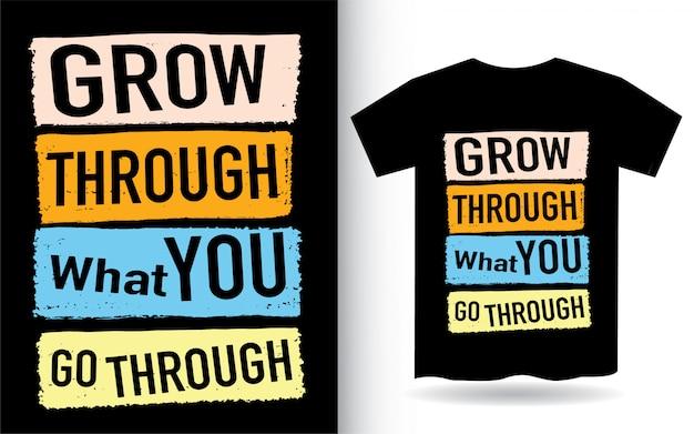 Cytat typograficzny na nadruk koszulki