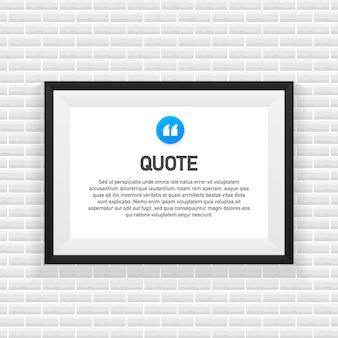 Cytat w tle. szablon kreatywny nowoczesny materiał projekt wyceny
