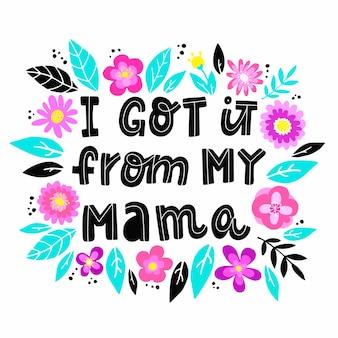 Cytat z dnia matki z kwiatami