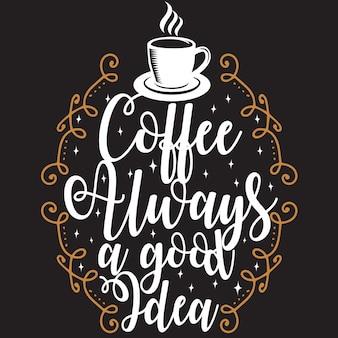 Cytat z kawą i powiedzenie. ¡
