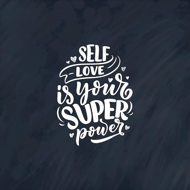 Cytat z napisem selfcare na blogu lub w sprzedaży. czas na coś miłego.