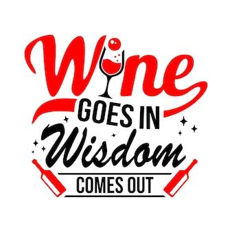 Cytaty wina svg projekt napis wektor