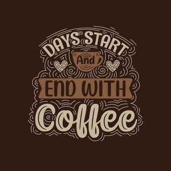 Cytaty z kawą napis projekt