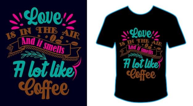Cytaty z kawy ręcznie rysowane projekt koszulki w pakiecie