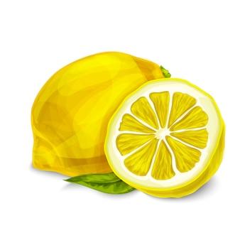 Cytryna na białym tle ilustracja