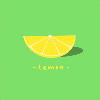 Cytryna plasterek symbol owoców ilustracja wektorowa