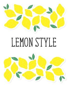 Cytryna styl wektor ilustracja minimalizm żółty kuchnia