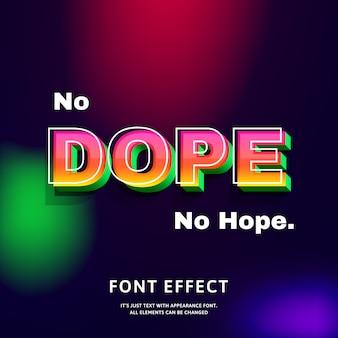 Cytuj efekt tekstowy dope z nowoczesną futurystyczną czcionką modny styl