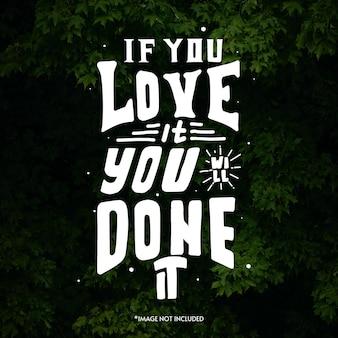 Cytuj napis typografii na projekt koszulki. ręcznie rysowane napis