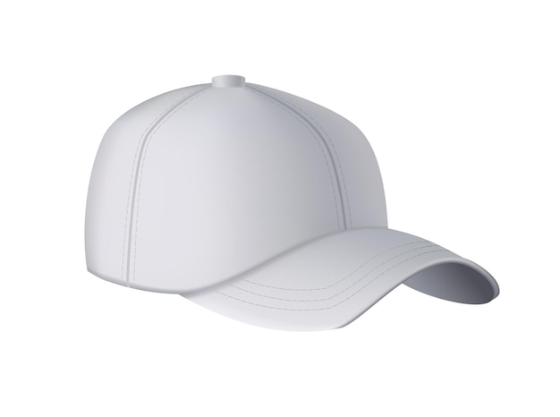 Czapka baseballowa. realistyczny widok z przodu szablonu czapki z daszkiem.