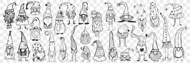 Czapka do zestawu doodle gnome.