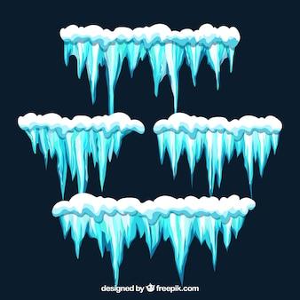 Czapka śnieżna komplet czterech