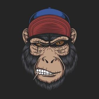Czapka z głową małpy dla twojej firmy lub marki