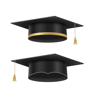 Czapki akademickie na uroczystość ukończenia szkoły w liceum