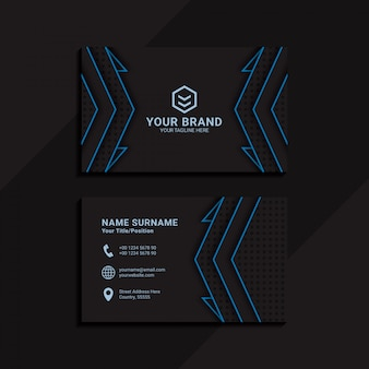 Czarna abstrakcjonistyczna geometryczna wizytówka dla korporacyjnego