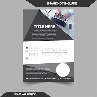 Czarna broszura modren i stylowa