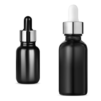 Czarna butelka z zakraplaczem