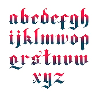 Czarna czcionka gotycka wektorowa