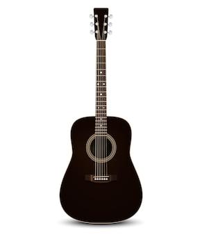 Czarna gitara akustyczna.
