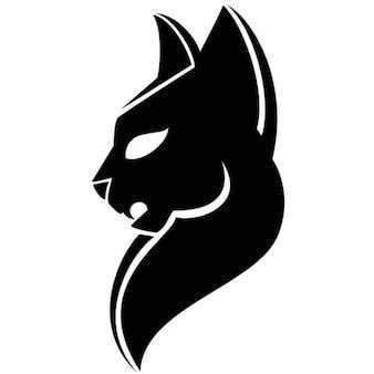 Czarna głowa ilustracja puma