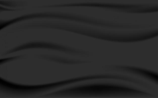 Czarna jedwabna satyna gładka tekstura