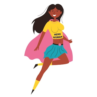 Czarna kobieta superbohater afroamerykanin