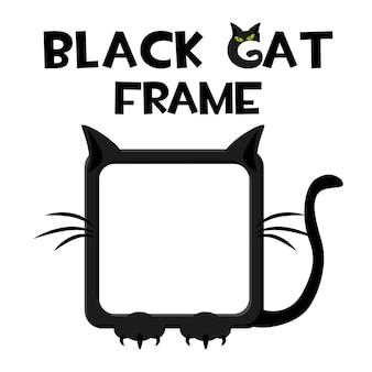 Czarna kwadratowa ramka dla kota
