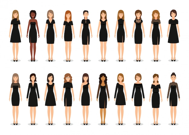 Czarna mała sukienka.